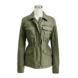 J. Crew Olive Green Ripstop Utility Style Jacket